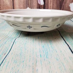 Longaberger pottery pie/baking pie plate  Blue